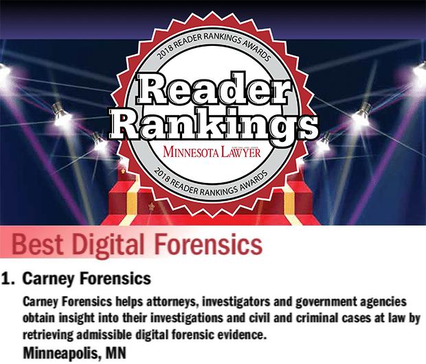 Minnesota Lawyer Reader Rankings Awards