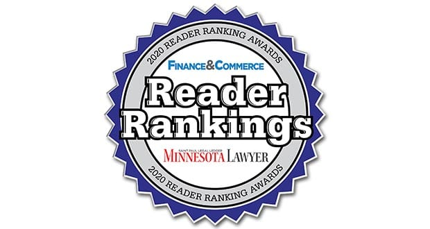 Minnesota Lawyer 2020 Reader Ranking Award